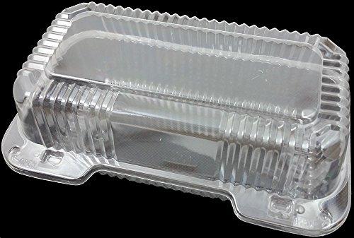 DART - C35UT1 Clear Hinged Lid Plastic Container 9'x 5 3/8' x 3 1/2' (25)