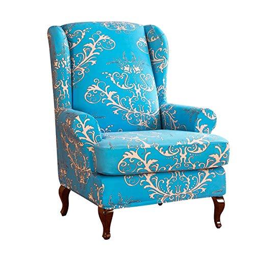 Fundas para sillas de Orejas, Fundas elásticas para sillones Estampadas, Protector de Spandex para Muebles, Lavable a máquina, Fundas universales para sillas, Fundas de sofá con una Funda de