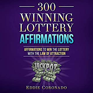 300 Winning Lottery Affirmations audiobook cover art