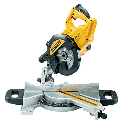Dewalt DWS774-GB 216-mm 230V Slide Mitre Saw with XPS - Yellow/Black