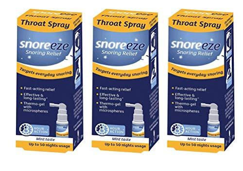 Snoreeze Snoring Relief Throat Spray Triple Pack