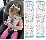 2x HECKBO® Auto Einhorn Mädchen Gurtschutz Schulterpolster Gurtschoner Schulterkissen Autositze Gurtpolster für Kinder & Erwachsene