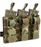 KRYDEX Triple Kangaroo Open-Top Mag Pouch for 5.56...