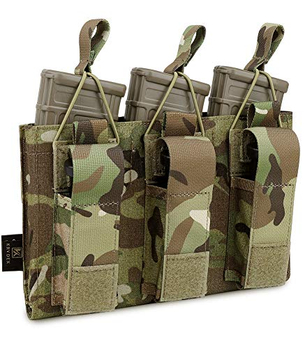 KRYDEX Triple Kangaroo Open-Top Mag Pouch for 5.56 .223 Magazine