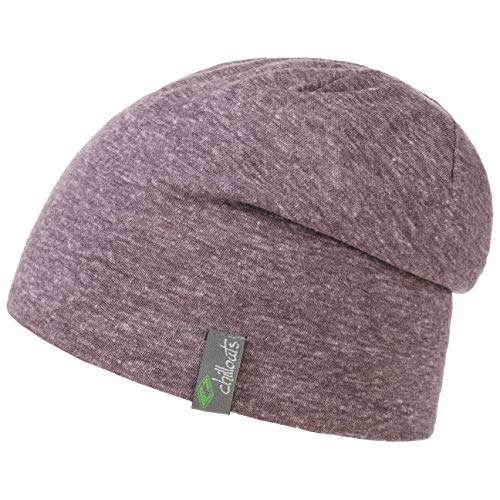 Chillouts Colombo Long Slouch Oversize Beanie Indoormütze Long Beanie Sommermütze (One Size - lila)