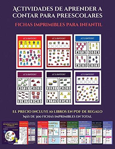 Fichas imprimibles para infantil (Actividades de aprender a contar para preescolares): Un...