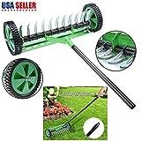 Unik Always Rolling Lawn Aerator Heavy Duty Garden Yard Tool...