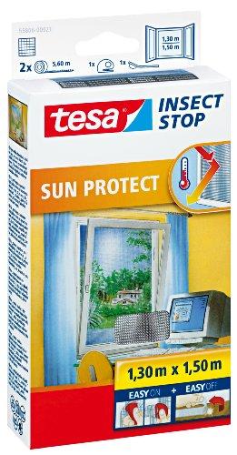 Tesa® Comfort Vliegengaas, klittenband voor dakramen, met zonwering Met bescherming tegen verblinding en zon voor normale ramen. wit