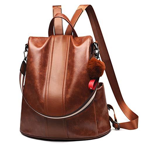 Picapoo Mochila para mujer de piel sintética antirrobo, mochila casual de hombro de viaje, casual, desmontable, bolsa de hombro