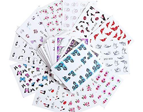 PMSMT Conjunto de Pegatinas Diseños Pegatinas de uñas Pegatinas deEstampado en Caliente de Oro y Plata Fruta Calcomanías de Transferencia de Arte de uñas Tatuajes Deslizadores Manicura