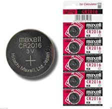 Pila maxell de Boton de Litio CR2016 3V Pack 5 Pilas