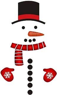 URMAGIC Christmas PVC Snowman Refrigerator Sticker Christmas Christmas Window Wall Decals DIY Wall Sticker for Christmas Home Door Wall Window Decoration