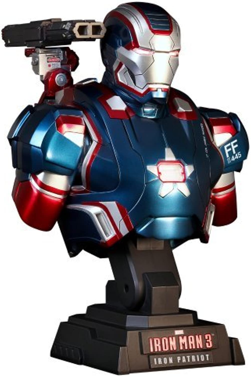 Hot Toys Iron Man 3 IRON PATRIOT 1 4 Scale Bust Figure Marvel's The Avengers by Iron Man