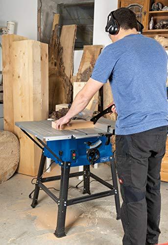 Scheppach Tischkreissäge 250-er Set, 230 V, 2000 W mit 2 Tischverbreitungen und Untergestell, HS100STVB - 7