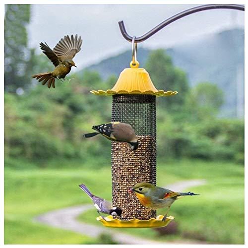 Kong EU à suspendre pour oiseaux décoratifs, facile à nettoyer et à remplir, à l'extérieur de graines de mangeoires, Mangeoire à oiseaux, d'Attirer Plus de Oiseaux sauvages pour votre maison et jardin extérieur, excellente idée de cadeau et amusant. - jaune