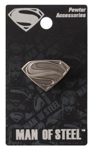 DC Épinglette en étain avec logo Superman Man of Steel