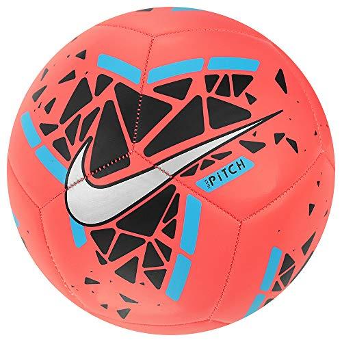 Nike Unisex Adult Pitch Soccer Ball Size 5 - Crimson/Black/Blue/White