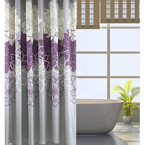 Unbekannt Duschvorhang Badezimmer Umweltfreundlich Waschbarer Anti-Bakteriell Schimmelresistent Duschvorhang 180 * 180CMpurple