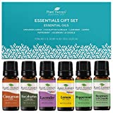 Plant Therapy Essentials Gift Set - Lavender, Peppermint, Eucalyptus, Lemon, Rosemary, Cinnamon 100% Pure, Undiluted, Natural Aromatherapy, Therapeutic Grade 10 mL (1/3 oz)