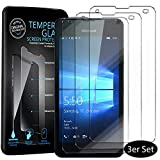 Conie®3X Bildschirmfolie für Microsoft Lumia 550, Tempered Glass Schutz Folie verstärkte Panzerglas Folie 9H, Lumia 550 Panzerfolie Gorilla Glasfolie Klar [ 3 Stück ]