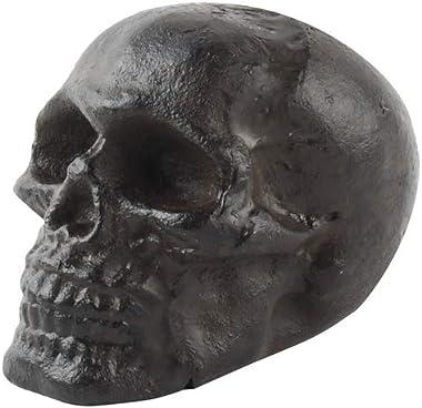 Treasure Gurus Cast Iron Miniature Skull Figurine Paperweight Heavy Desk Decor