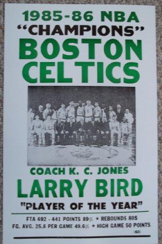 1985-86 Boston Celtics NBA Champions Poster Print