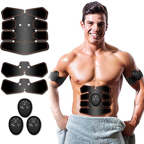 Antmona Abs Stimulator, Muscle Toner - Abs Stimulating Belt- Abdominal Toner- Training Device for Muscles- Wireless Portable to-Go Gym Device- Muscle Sculpting at Home- Fitness Equipment, Black