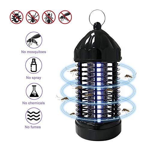 FRGHF Elektrischer Insektenvernichter, UV Mückenvernichter Insektenfalle Mückenlampe Elektro Fliegenfalle KeinLärm Mückenfalle Elektrisch Chemiefrei Mückenschutz Insektenfalle, Innen Outdoor