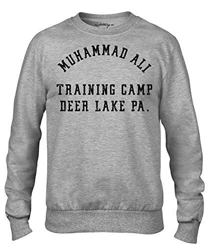 Muhammad Ali Deer Lake Training Camping Boxen Premium Herren Grau Rundhalsausschnitt Sweatshirt - grau, L