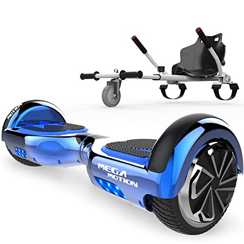 SOUTHERN-WOLF Hoverboards, Patinete Eléctrico con Silla Auto Equilibrio Hover Scooter Board 6.5 Pulgadas con Fuerte Dual Motor y LED E-Skateboard Bluetooth Regalo para Niños y Adultos