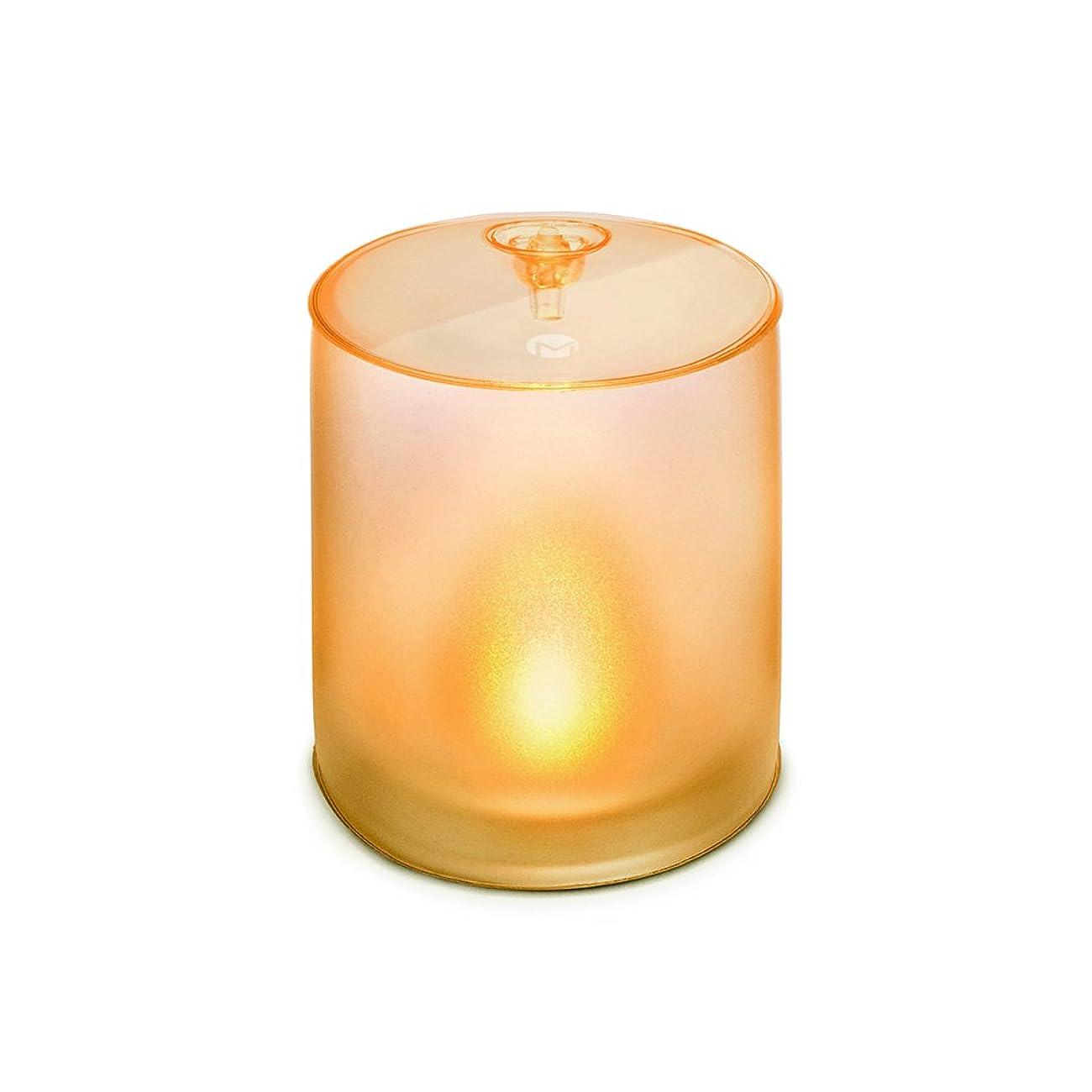 言語雄大な蒸発MPOWERD エムパワード キャンドル 空気で膨らむ ソーラーライト こはく色 の ゆらぎ の 灯り