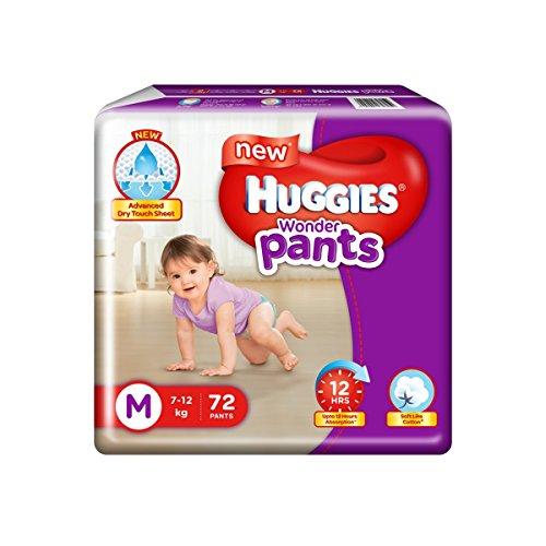 Huggies Wonder Diapers Pants, Medium (Pack of 72)