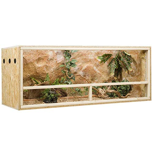 Holzkonzept OSB-Holzterrarium mit Seitenbelüftung, 150 x 60 x 60 cm