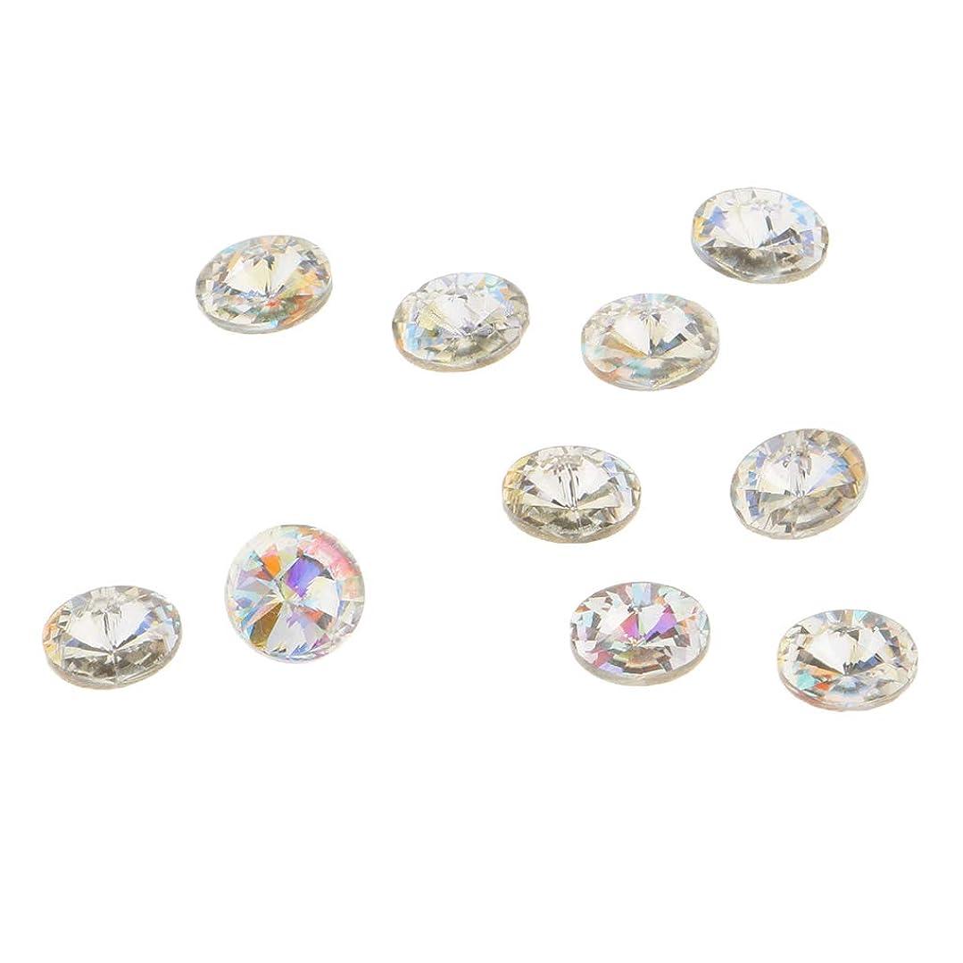 類人猿定期的に没頭するPerfeclan 10個 3Dネイルチャーム ネイルアート 3D ブリング ガラス ダイヤモンドチップ 装飾 美しい爪 魅力 5タイプ選べ - C