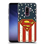 Head Case Designs Offizielle Superman DC Comics U.S. Fahne Logos Harte Rueckseiten Huelle kompatibel mit Samsung Galaxy S9+ / S9 Plus