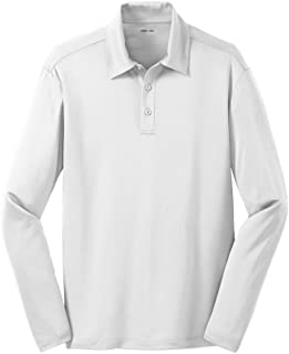 Men's Silk Touch Long Sleeve Golf Polo's in 16 Colors - Sizes XS-4XL