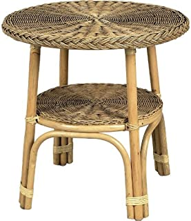 PEGANE Table en moelle de rotin, Dim : Ø 57 h 57 cm