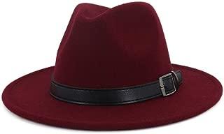 XinLin Du Women Men Wool Fedora Hat With Punk Belt Pop Outdoor Casual Hat Panama Jazz Hat
