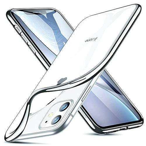 GNFD Cover Compatibile iPhone 11 Silicone Trasparente Custodia Nuova Generazione Morbida Ultraslim Antiurto Resistente Protettiva Indistruttibile TPU Ultrasottile