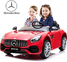 Kuntai Electric Cars for Kids, Mercedes Benz Car for Kids, 2 Seater Battery Powered Cars for Kids Red