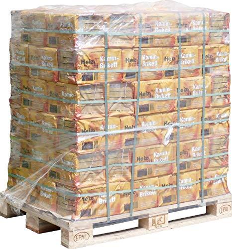 960 kg Kohle Briketts 10 kg in der Papiertüte TOP Gluthalter Kamin Ofen Brikett Heizbriketts 960 kg Palette Heizprofi Briketts