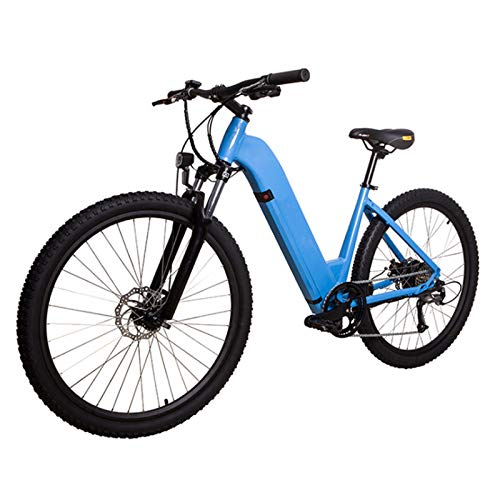 sunyu 27,5 Pulgadas Bicicleta de montaña, Adulto Súper Ligero Pedal Bicicleta eléctrica asistida, 36 V * 10,4 Ah, 250W, Azul, Velocidad máxima: 32 km/h