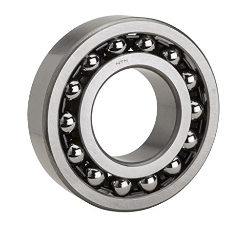 NTN Bearing 1202 Double Row Self-Aligning Radial Ball Bearing, Normal Clearance, Standard Cage, 15 mm Bore ID, 35 mm OD, 11 mm Width, Open