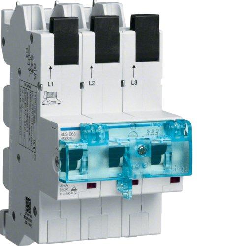 Hager Tehalit HTS363E SLS-Schalter 63A 3-polig mit Steckkontaktierung für Sammelschiene