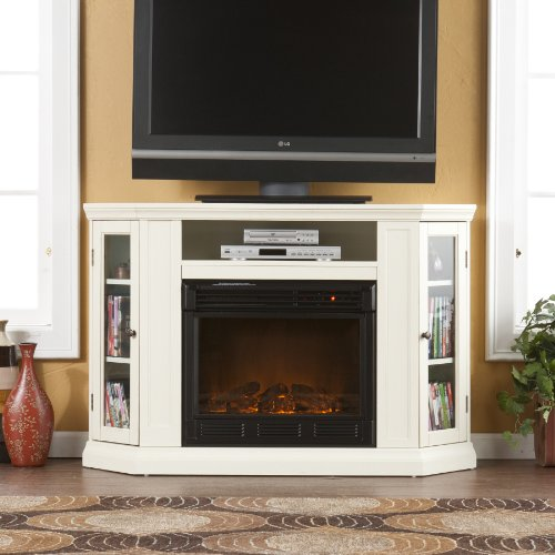 SEI Ponoma Convertible Media Electric Fireplace, Ivory