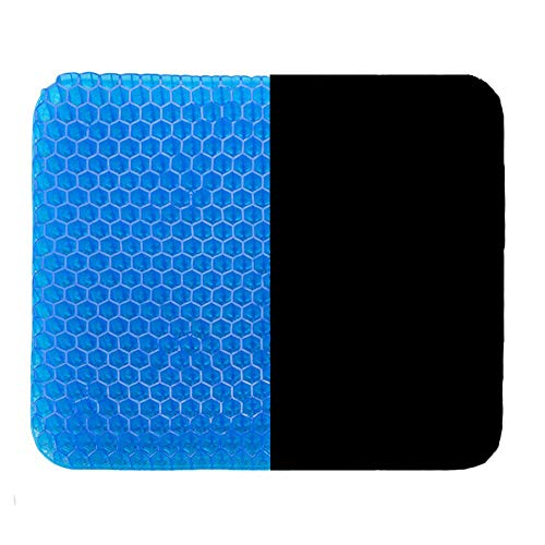 HST Gel Seat Cushion with Non-Slip Cover,Ventilation Breathable Honeycomb Design Seat Cushion for Back Painr Home Office Chair Car Wheelchair,Relieves Sciatica Back Pain