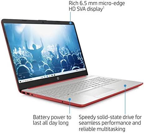 """2021 Newest HP Laptop Computer, 15.6"""" HD Display,Intel Pentium Dual-core N5000 Upto 2.7 GHz, 8GB DDR4 RAM, 128GB SSD, HD Webcam, HDMI, Bluetooth, WiFi, Win10 S, 10+ Hours Battery, w/Hubxcel Cables WeeklyReviewer"""