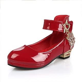 通用 HB Girls Princess Ballet Shoes Plat Glitter Low Heel 2cm Dance Party Shoes School Shoes for Dress Butterfly Knot