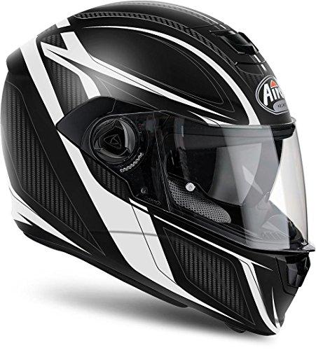 Airoh Motorrad Helme Storm Sharpen, White Matt, Größe M