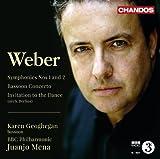 Carl Maria von Weber: Sinfonien Nr.1 & Nr.2 / Fagottkonzert